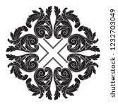 baroque vector decorations... | Shutterstock .eps vector #1232703049