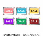a set of banners for holding... | Shutterstock .eps vector #1232707273