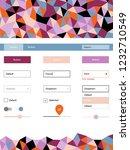 light pink  blue vector web ui...   Shutterstock .eps vector #1232710549