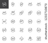 360 degrees outline icons set.... | Shutterstock .eps vector #1232710873