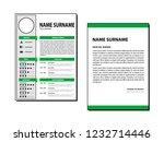 cv simple template | Shutterstock .eps vector #1232714446