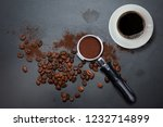 coffee cup and filter holder of ... | Shutterstock . vector #1232714899