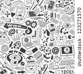 web doodles   seamless pattern | Shutterstock .eps vector #123271570