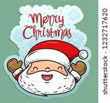 doodle patch of santa | Shutterstock .eps vector #1232717620