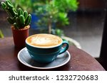 coffee caramel macchiato in... | Shutterstock . vector #1232720683