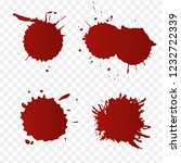 realistic blood splatters and... | Shutterstock .eps vector #1232722339