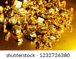 pure gold ore isolated on... | Shutterstock . vector #1232726380