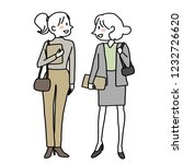 businesswomen standing ... | Shutterstock .eps vector #1232726620