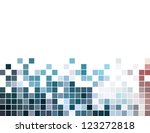 abstract square pixel mosaic... | Shutterstock .eps vector #123272818
