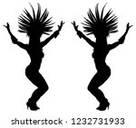 smiling brazil carnival dancer... | Shutterstock .eps vector #1232731933