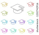 square academic cap icon in...