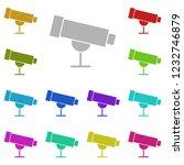 telescope  astronomy icon in...
