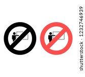teacher ban  prohibition icon....