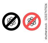atom ban  prohibition icon....