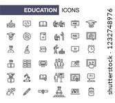 education icons set simple flat ... | Shutterstock . vector #1232748976