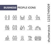 business people icons set... | Shutterstock . vector #1232749009