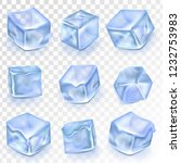 ice cubes isolated transpatrent ... | Shutterstock .eps vector #1232753983