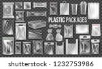 plastic packages transparent... | Shutterstock .eps vector #1232753986
