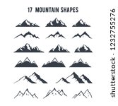 set of hand drawn mountain... | Shutterstock .eps vector #1232755276