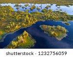aerial shot of yelnya swamp ... | Shutterstock . vector #1232756059