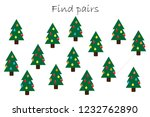 find pairs of identical... | Shutterstock .eps vector #1232762890