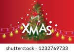 merry christmas and happy new... | Shutterstock .eps vector #1232769733