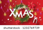 merry christmas and happy new... | Shutterstock .eps vector #1232769739
