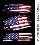 set of grunge american flags on ... | Shutterstock .eps vector #1232772583