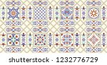 seamless colorful patchwork in...   Shutterstock .eps vector #1232776729