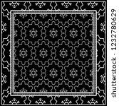 design of a scarf with a... | Shutterstock .eps vector #1232780629