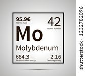 molybdenum chemical element... | Shutterstock .eps vector #1232782096
