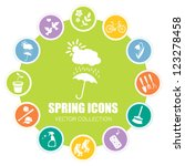 spring icons  vector... | Shutterstock .eps vector #123278458