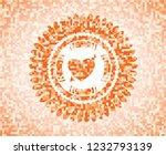 heart with arrow icon inside... | Shutterstock .eps vector #1232793139
