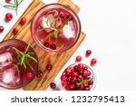 cocktail with cranberry  vodka  ... | Shutterstock . vector #1232795413