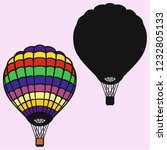 hot air balloon vector... | Shutterstock .eps vector #1232805133