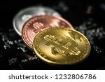 set of bitcoins laying on... | Shutterstock . vector #1232806786