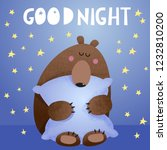 good night vector cartoon... | Shutterstock .eps vector #1232810200