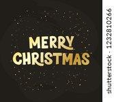 merry christmas   hand drawn... | Shutterstock .eps vector #1232810266