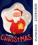 santa claus merry christmas... | Shutterstock .eps vector #1232810830