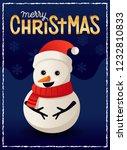 cute snowman merry christmas... | Shutterstock .eps vector #1232810833