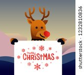 reindeer with merry christmas... | Shutterstock .eps vector #1232810836