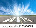 runway asphalt road with the... | Shutterstock . vector #1232834989