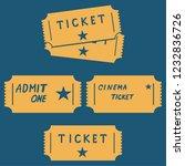 cinema movie ticket vector... | Shutterstock .eps vector #1232836726