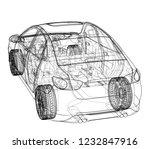 concept car. vector rendering... | Shutterstock .eps vector #1232847916