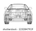 concept car. vector rendering...   Shutterstock .eps vector #1232847919