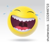 smiley loud laughs to tears 3d... | Shutterstock .eps vector #1232848723