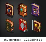magic book icons set on... | Shutterstock .eps vector #1232854516