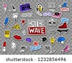 vector set of teens stickers in ...   Shutterstock .eps vector #1232856496