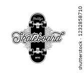 skateboarding t shirt design.... | Shutterstock .eps vector #1232858710