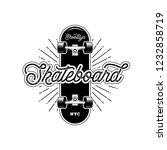 skateboarding t shirt design....   Shutterstock .eps vector #1232858719